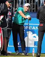 Golf - 2018 Sky Sports British Masters - Thursday, First Round<br /> <br /> Francesco Molinari of Italy and Tommy Fleetwood of England, at Walton Heath Golf Club.<br /> <br /> COLORSPORT/ANDREW COWIE