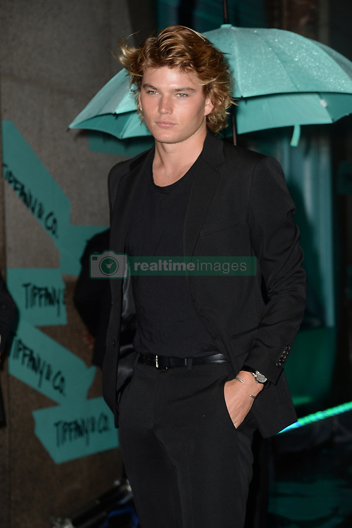 May 3, 2018 - New York, NY, USA - May 3, 2018  New York City..Jordan Barrett attending Tiffany & Co. 'Paper Flowers' jewelry collection launch on May 3, 2018 in New York City. (Credit Image: © Kristin Callahan/Ace Pictures via ZUMA Press)
