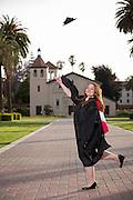 Effie Perivoliotis poses for a portrait during her Senior Portrait Session at Santa Clara University in Santa Clara, California, on May 15, 2014. (Stan Olszewski/SOSKIphoto)