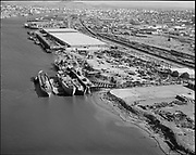 """Ackroyd 13505-1 """"Schnitzer Industires Inc. aerial of plant. September 16, 1965"""" (NW Front, south of Gunderson)"""