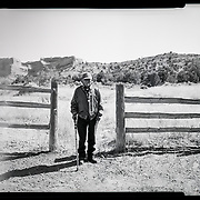A portrait of Navajo Code Talker John Kinsel, Sr., July 11, 2019, at his home in Lukachukai, Arizona.