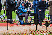 Old soldiers pay their respects - The Duke of Edinburgh, Life Member, Royal British Legion, accompanied by Prince Harry, visit the Field of Remembrance at Westminster Abbey  - 10 November 2016, London.