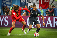 Kylian Mbappe of France and Marouane Fellaini of Belgium during the 2018 FIFA World Cup Russia, Semi Final football match between France and Belgium on July 10, 2018 at Saint Petersburg Stadium in Saint Petersburg, Russia - Photo Thiago Bernardes / FramePhoto / ProSportsImages / DPPI