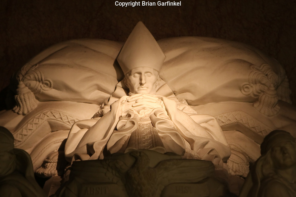 Montevideo, Uruguay - A sculpture inside a catholic church in downtown Montevideo