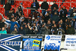 April 3, 2017 - Moscow, Russia - April 3, 2017. Russia, Moscow, Otkritie Arena Stadium. Russian football Premier League 2016/17. Orenburg's fans during match between FC Spartak (Moscow) - FC Orenburg  (Credit Image: © Russian Look via ZUMA Wire)