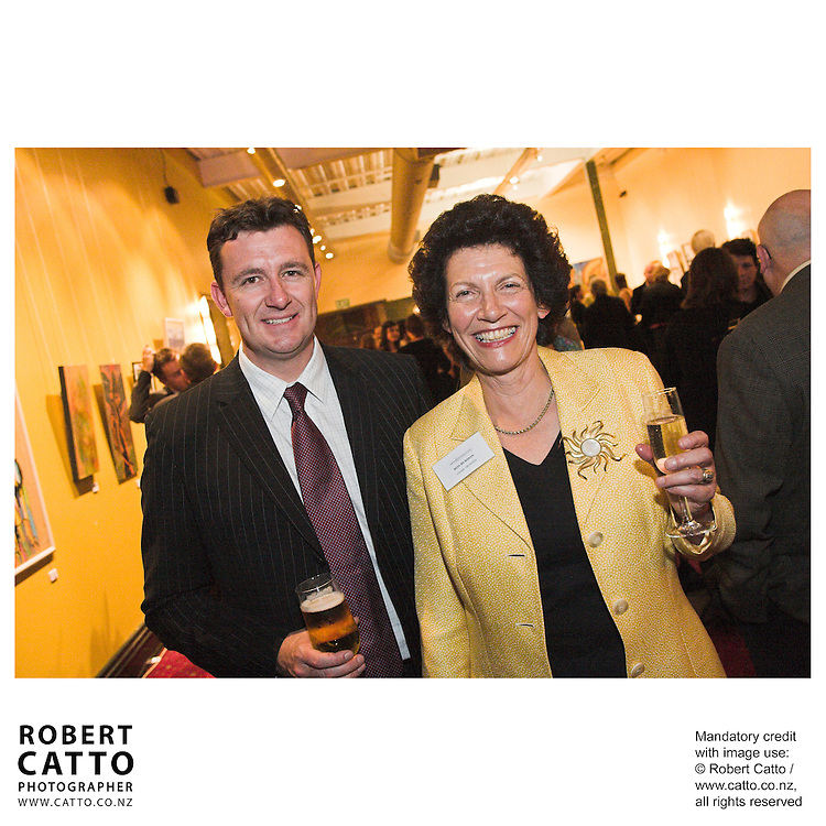 Neil Paviour-Smith;Ros Burdon at the Arts Foundation of New Zealand New Generation Awards at the St James Theatre, Wellington, New Zealand.<br />
