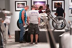"""Michael Lichter's Motorcycles as Art annual exhibition titled """"The Naked Truth"""" at the Buffalo Chip Gallery during the 75th Annual Sturgis Black Hills Motorcycle Rally.  SD, USA.  August 4, 2015.  Photography ©2015 Michael Lichter."""