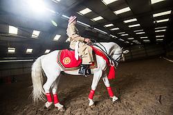 The Jordian calvary at their stables in Tower Farm, Liberton, Edinburgh