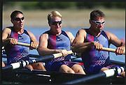 Sydney. AUSTRALIA. 2000 Summer Olympic Regatta, Penrith. NSW.  <br /> <br /> USA M8+.  KAEHLER, Robert, COLLINS, Peter, WELSH Thomas , SIMON David<br /> AHRENS, Christian, MILLER, Garrett<br /> VOLPENHEIN, Bryan, KLEPACKI, Jeffrey<br /> Cox CIPOLLONE, Pete<br /> <br /> [Mandatory Credit Peter SPURRIER/ Intersport Images] Sydney International Regatta Centre (SIRC) 2000 Olympic Rowing Regatta00085138.tif