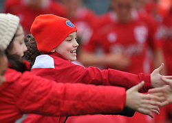 Bristol City Women supporter at Stoke Gifford Stadium - Mandatory by-line: Paul Knight/JMP - 19/03/2017 - FOOTBALL - Stoke Gifford Stadium - Bristol, England - Bristol City Women v Millwall Lionesses - Women's FA Cup