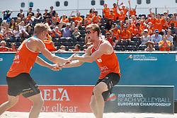 20180717 NED: CEV DELA Beach Volleyball European Championship day 3<br />Sven Vismans (1), Jannes van der Ham (2) of The Netherlands <br />©2018-FotoHoogendoorn.nl