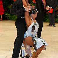 Gregor Rebula & Rachael Heron perform their dance during the professional Latin-american dance competition of the United Kingdom Open Dance Championships held in Bournemouth International Centre, Bournemouth, United Kingdom. Thursday, 21. January 2010. ATTILA VOLGYI