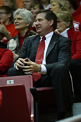 24 March 2011: Interim Athletic Director Larry Lyons during a WNIT (Women's National Invitational Tournament Women's basketball sweet 16 game between the Duquesne Dukes and the Illinois State Redbirds at Redbird Arena in Normal Illinois.