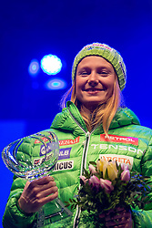 Ana Drev (SLO) during medal ceremony after the 7th Ladies' Giant slalom at 52nd Golden Fox - Maribor of Audi FIS Ski World Cup 2015/16, on January 30, 2016 in Centre of Maribor, Slovenia. Photo by Vid Ponikvar / Sportida