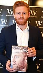 October 19, 2017 - London, United Kingdom - Yorkshire and England wicketkeeper JONNY BAIRSTOW signs copies of his new book 'A Clear Blue Sky' in Waterstones, Leadenhall Market in London. (Credit Image: © Dinendra Haria/i-Images via ZUMA Press)