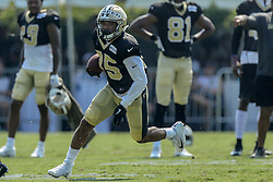 July 28, 2018 - Metairie, LA, U.S. - METAIRIE, LA. - JULY 28:  New Orleans Saints running back Shane Vereen (35) runs through a drill during New Orleans Saints training camp practice on July 28, 2018 at the Ochsner Sports Performance Center in New Orleans, LA.  (Photo by Stephen Lew/Icon Sportswire) (Credit Image: © Stephen Lew/Icon SMI via ZUMA Press)