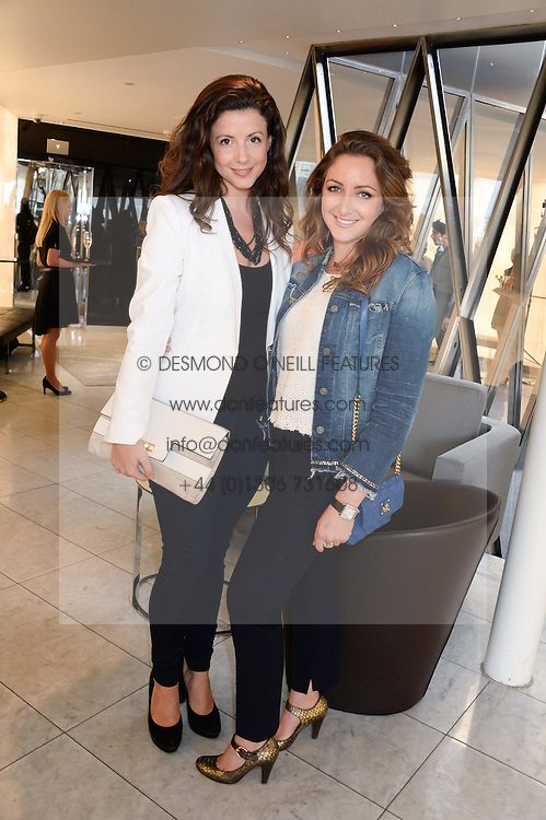 Left to right, SHIRLEY LEIGH-WOOD OAKES and NATASHA CORRETT at the launch of the Odabash Macdonald Resort 2014 swimwear collection at ME Hotel, London on 25th June 2013.
