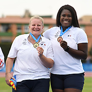 Alexandra Tavernier (FRA) Gold medal and Camille Sainte Luce (FRA) Bronze medal on Women's Hammer final during the Jeux Mediterraneens 2018, in Tarragona, Spain, Day 6, on June 27, 2018 - Photo Stephane Kempinaire / KMSP / ProSportsImages / DPPI