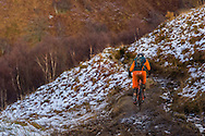 Dan Greenwood attacks stage one of the Kinlochleven Enduro.