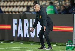 Cheftræner Flemming Pedersen (FC Nordsjælland) under kampen i 3F Superligaen mellem FC Nordsjælland og Randers FC den 19. oktober 2020 i Right to Dream Park, Farum (Foto: Claus Birch).