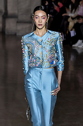 January 23, 2017 - Paris, FRANCE - Georges Hobeika.MODEL ON CATWALK, WOMAN, PARIS FASHION WEEK 2017 WOMEN READY TO WEAR FOR SPRING SUMMER, DEFILE, FASHION SHOW RUNWAY COLLECTION, HAUTE COUTURE, MODELWEAR, MODESCHAU LAUFSTEG FR√É≈ìHLING FRUEHLING SOMMER.PARHCSS17 (Credit Image: © PPS via ZUMA Wire)