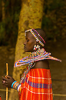 A Maasai woman, Amboseli National Park, Kenya