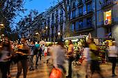 Spain-Barcelona-Ramblas daily life