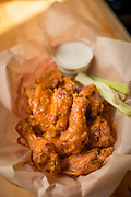 Hot Wings from Fire in the Mountain on E. Burside in Portland, Oregon.