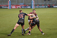 Brad Singleton (8) of Wigan Warriors in action during the game