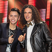 NLD/Hilversum//20170218 - Finale The Voice of Holland 2017, Vinchenzo Tahapary en coach Ali B.
