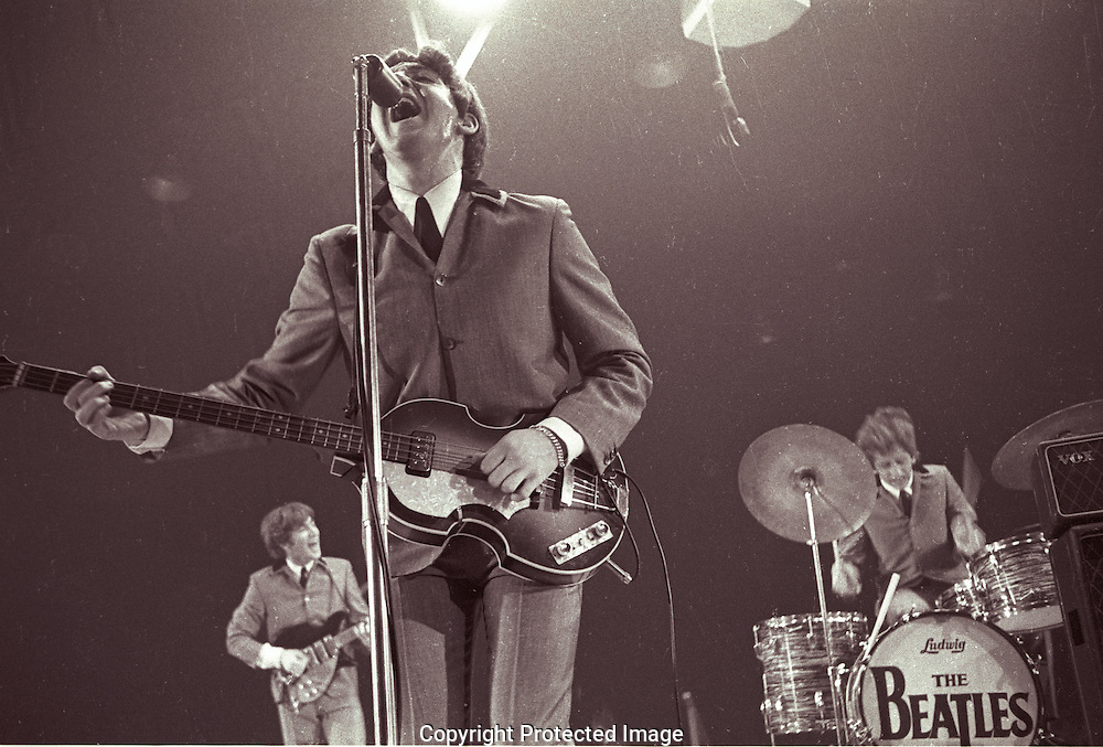 A 40.4 MG FILE FROM FILM OF:..The Beatles First Concert in the United States. Held in what is now a very small ice rink in North East Washington, DC Photo by Dennis Brack