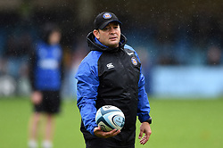Bath Rugby first team coach Darren Edwards looks on during the pre-match warm-up - Mandatory byline: Patrick Khachfe/JMP - 07966 386802 - 22/09/2018 - RUGBY UNION - The Recreation Ground - Bath, England - Bath Rugby v Northampton Saints - Gallagher Premiership Rugby
