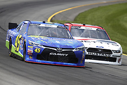 June 1, 2018 - Long Pond, Pennsylvania, United States of America - Josh Bilicki (45) brings his car through the turns during practice for the Pocono Green 250 at Pocono Raceway in Long Pond, Pennsylvania. (Credit Image: © Chris Owens Asp Inc/ASP via ZUMA Wire)
