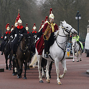 Arms police patrol changing off the guards on horse guards parade on 23th March 2017, London,UK. by See Li