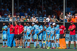 the players of India waiting at the penalty corners during the Champions Trophy finale between the Australia and India on the fields of BH&BC Breda on Juli 1, 2018 in Breda, the Netherlands.