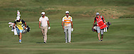 Carlos Del Moral (ESP)  & Rafa Cabrera-Bello (ESP) heading down the 9th during Round One of the 2015 Alstom Open de France, played at Le Golf National, Saint-Quentin-En-Yvelines, Paris, France. /02/07/2015/. Picture: Golffile | David Lloyd<br /> <br /> All photos usage must carry mandatory copyright credit (© Golffile | David Lloyd)