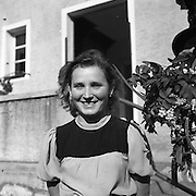 Young German woman who tried to indicate that she and her family were underground workers. Ave us flowers when we left. We didn't believe her. April 1945
