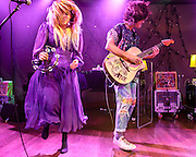 """WASHINGTON, DC - October 10th, 2013 - Hannah Hooper and Christian Zucconi of Grouplove perform at The Hamilton in Washington, D.C. The band's 2011 hit """"Tongue Tied"""" sold over 1 million copies, was featured in an iPod Touch commercial and was covered on the TV show Glee. (Photo by Kyle Gustafson / For The Washington Post)"""