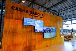 """Esteio/RS, 25/08/2018 - Vitrine da Carne Gaúcha durante O Salão do Empreendedor que está ocorrendo na Expointer 2018, trará nesta edição, destaque para as cadeias produtivas da Soja, Pecuária do Corte e Vinicultura, com a perspectiva """"Do Campo à Mesa"""". O espaço está localizado no Pavilhão Internacional do Parque de Exposições Assis Brasil, em Esteio/RS, de 25 de Agosto a 02 de Setembro. Foto: Marcos Nagelstein/ Agência Preview"""