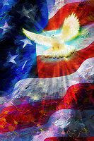 """And this be our motto - ""In God is our trust,"" And the star-spangled banner in triumph shall wave - Painting by Dino Carbetta""…<br />