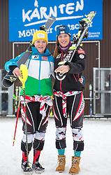 09.07.2015, Moosalm, Lienz. AUT, ÖSV, Medientermin mit ÖSV Technikerinnen, im Bild Katharina Truppe, Carmen Thalmann (AUT) // Austrian Skiracers Katharina Truppe and Carmen Thalmann during a media event with the OeSV women technic Team at the Moosalm in Lienz, Austria on 2015/07/09. EXPA Pictures © 2015, PhotoCredit: EXPA/ Johann Groder