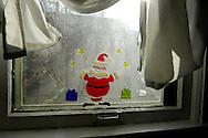 Santa decal on window