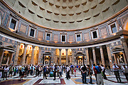 Pantheon interior, Rome, Italy.