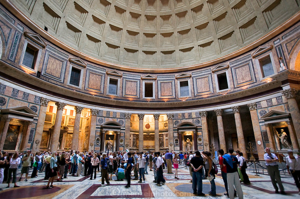 Pantheon interior, Rome, Italy.