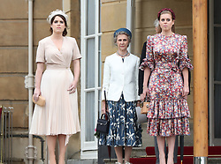 May 29, 2019 - London, London, United Kingdom - Image licensed to i-Images Picture Agency. 29/05/2019. London, United Kingdom. Princess Eugenie and Princess Beatrice at a Royal Garden Party at Buckingham Palace in London. (Credit Image: © Pool/i-Images via ZUMA Press)
