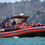 The Excitor fast boat run by .Awesome Adventures from Paihia, Bay of Islands. 15th New Zealand, November 2010. Photo Tim Clayton