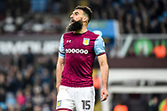 Aston Villa midfielder Mile Jedinak (15) during the EFL Sky Bet Championship match between Aston Villa and Leeds United at Villa Park, Birmingham, England on 13 April 2018. Picture by Dennis Goodwin.