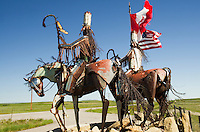 Blackfeet Nation Sculptures by Blackfeet tribal member and artist Jay Laber