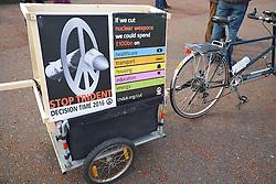 Stop Trident protest Llandudno promenade North Wales 2016