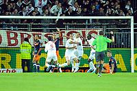 FOOTBALL - FRENCH CHAMPIONSHIP 2011/2012 - L1 - STADE BRESTOIS v MONTPELLIER HSC - 17/09/2011 - PHOTO PASCAL ALLEE / DPPI - JOY SANTIAGO GENTILETTI (BREST) AFTER HIS GOAL